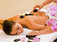 Massage aux pierres chaudes, stone massage